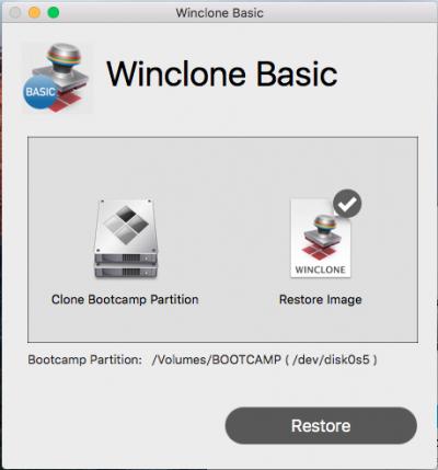 Winclone5 スクリーンショット